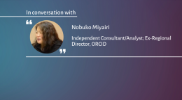 VIDEO: An ORCID iD is more than a number - Nobuko Miyairi