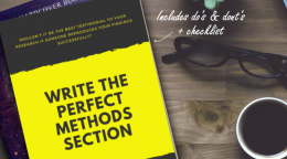 HANDBOOK: Write the perfect Methods section - Showcase your work…