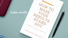 How to make your results stand out: A hands-on guide for researchers