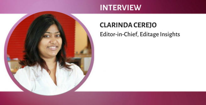 We champion the cause of authors at every chance we get: Clarinda Cerejo, Editage Insights