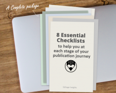 HANDBOOK: 8 Essential checklists to help you at each stage of your publication…