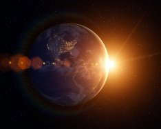 Interaction between magnetic fields of Earth and sun observed